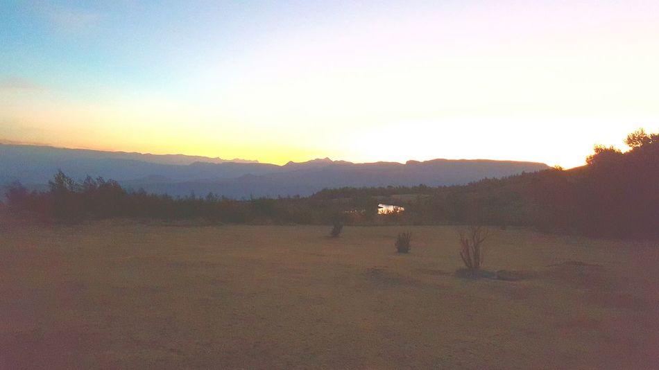 Sunset Mountains Drakensburg Holiday Winter Breathtaking