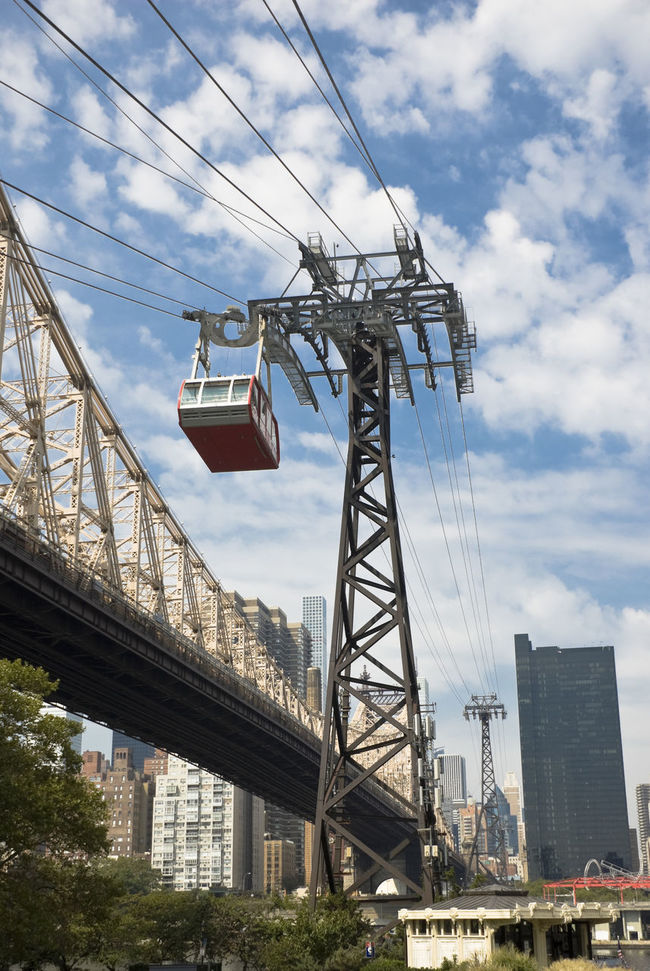 Roosevelt Island Tram Cable Car City Cloud - Sky Day Electricity Pylon No People Outdoors Tram