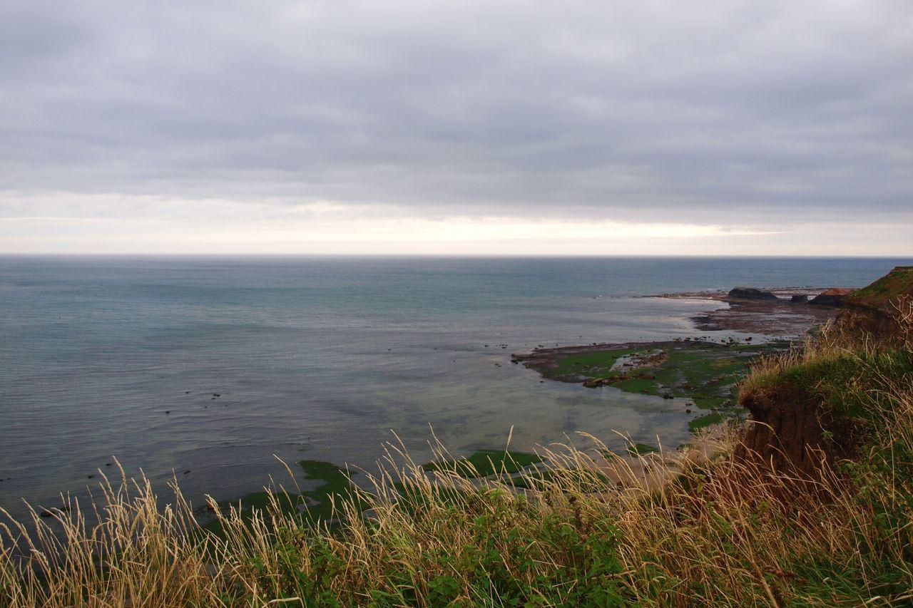 Sea Water Horizon Over Water Seascape Shore Sky Clouds Grass Coast Coastline Coastal Walk Cliffs Clifftop Cliff View Cliff Edge Walking Around Yorkshire Coast