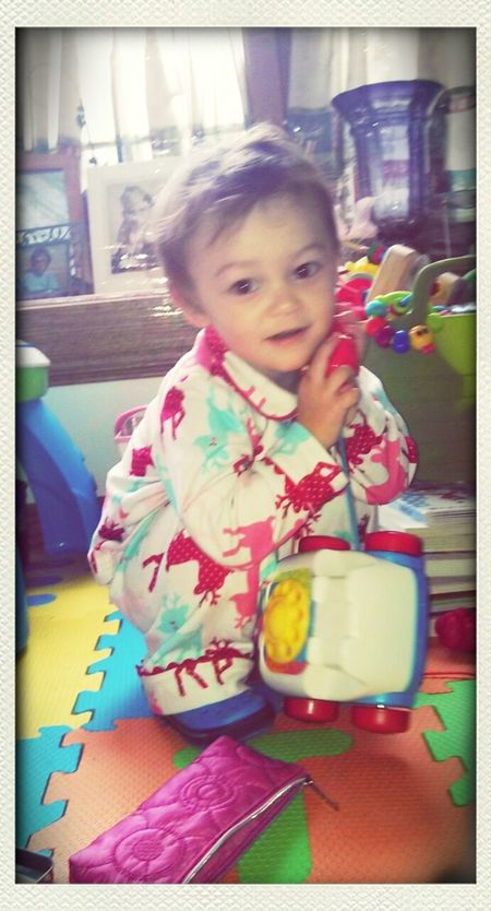 """""""Important phone call Mommy!"""" Playtime Kids Daughter 22 Months"""