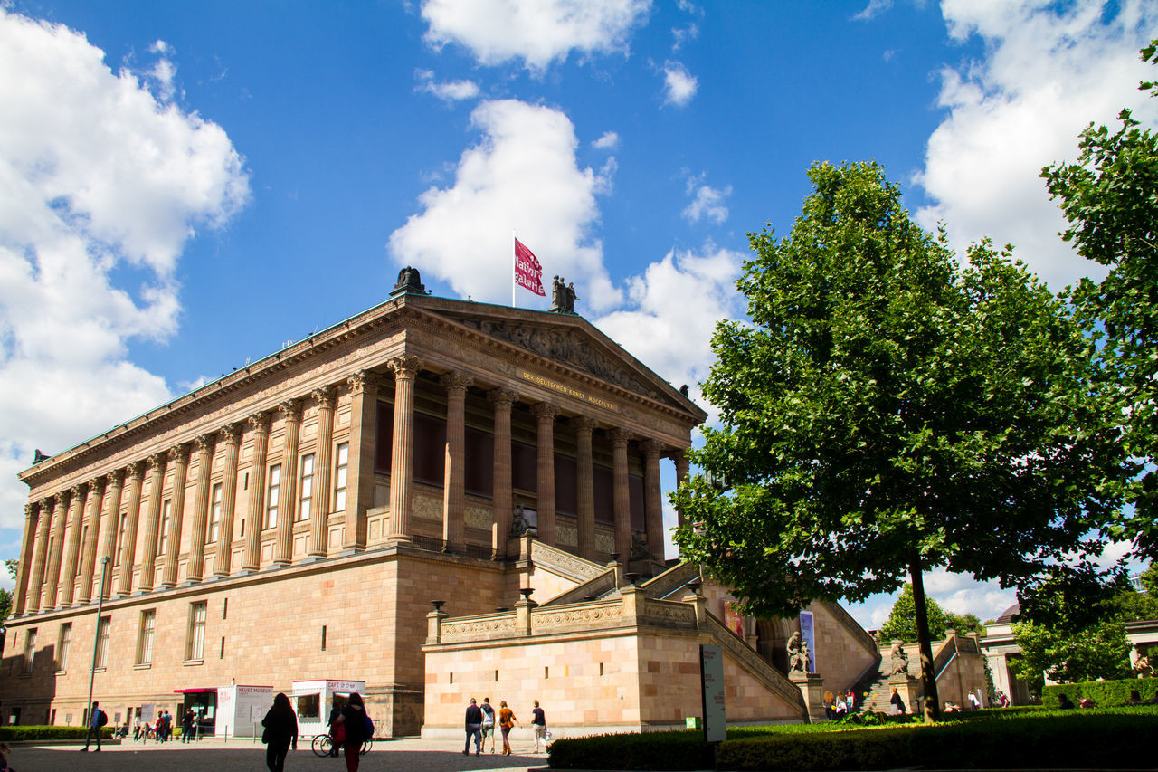 National Gallery / Berlin Alte Nationalgalerie Altenationalgalerie Architecture Art Berlin Blue Building Exterior Built Structure City Life Cloud Cloud - Sky Cloudy Gallery Germany Museum National Gallery  National Gallery Of Art People Sky Travel Destinations Tree Trees