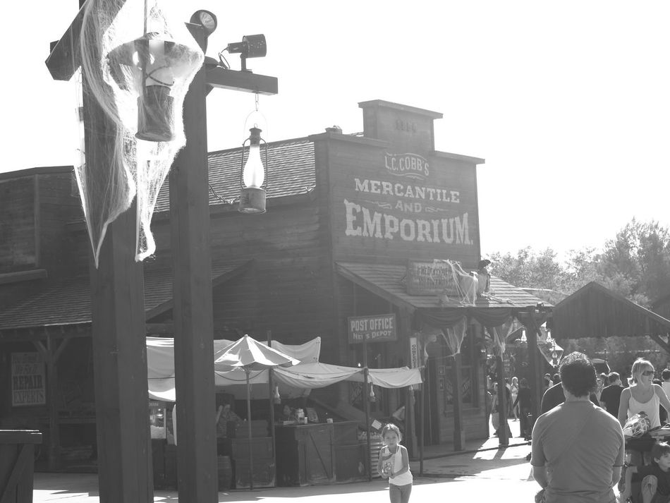 The Wild West Portaventura Theme Park Old-fashioned Blackandwhite Photography Taking Photos Salou Spain Catalunya
