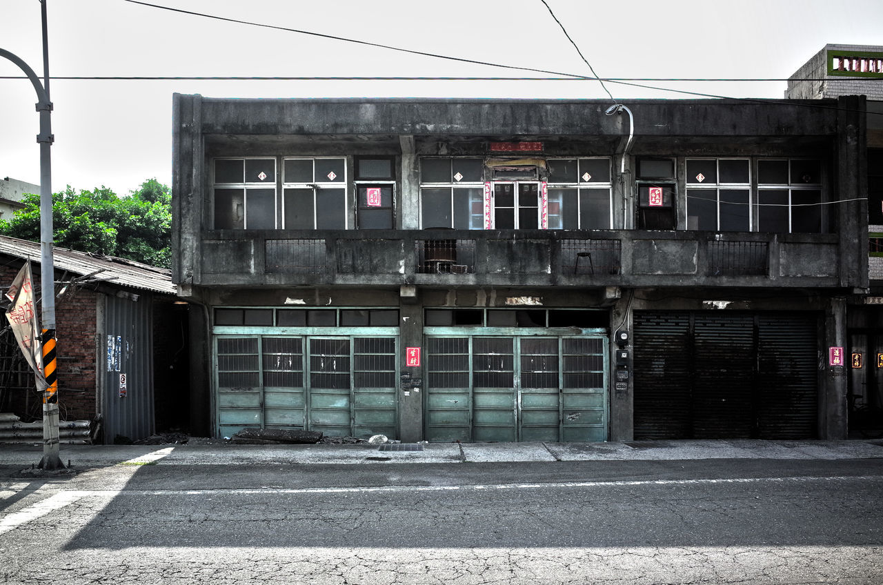 building exterior, architecture, built structure, outdoors, street, transportation, day, cable, city, no people