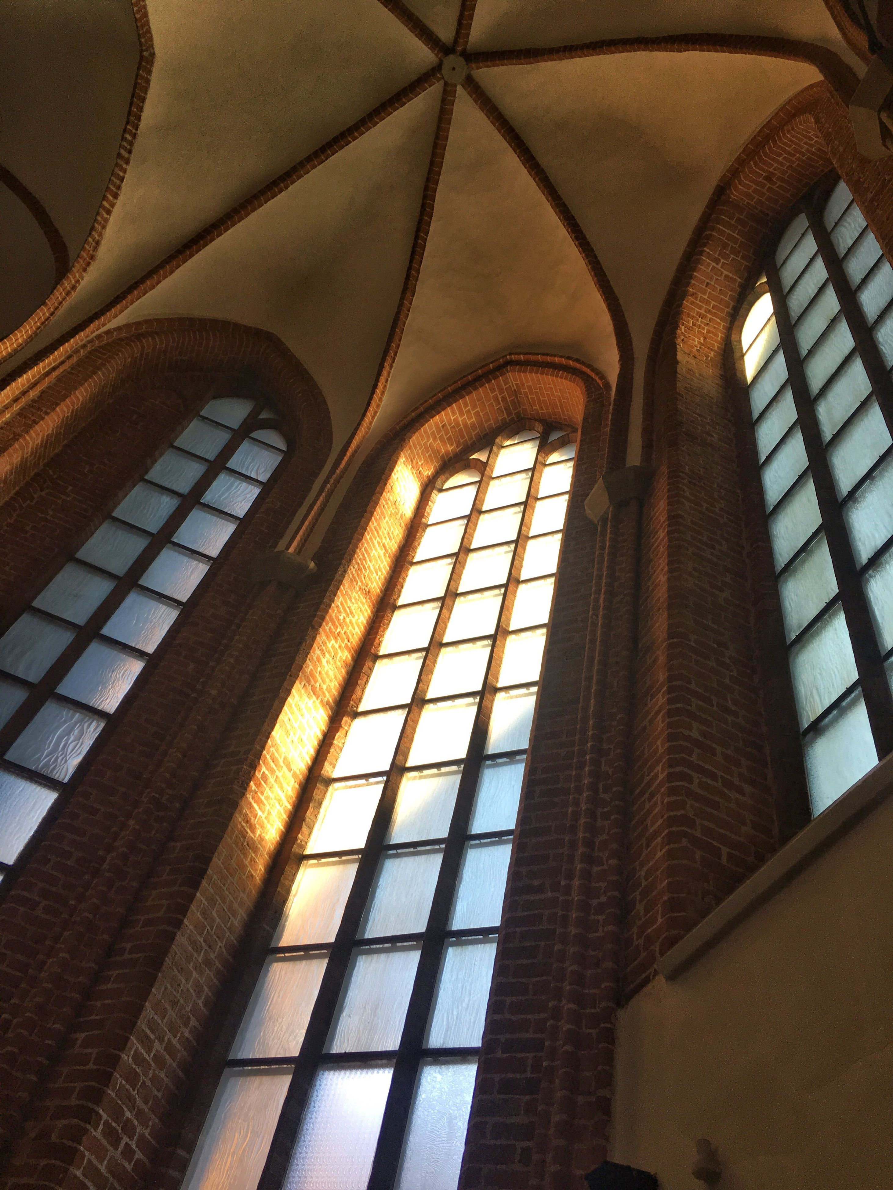 no people, pattern, low angle view, indoors, architecture, day