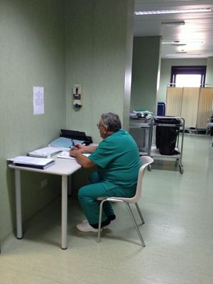 people at Ospedale by Tano Bono