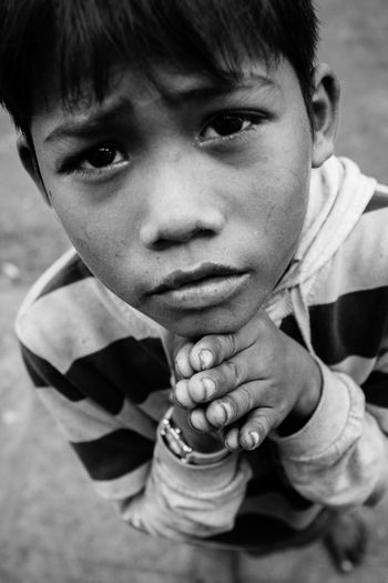 Ankor Thom Ankor Wat Cambodia Poor Kids Praying Hands Refugee Boys Child Childhood Close-up People Real People EyeEmNewHere