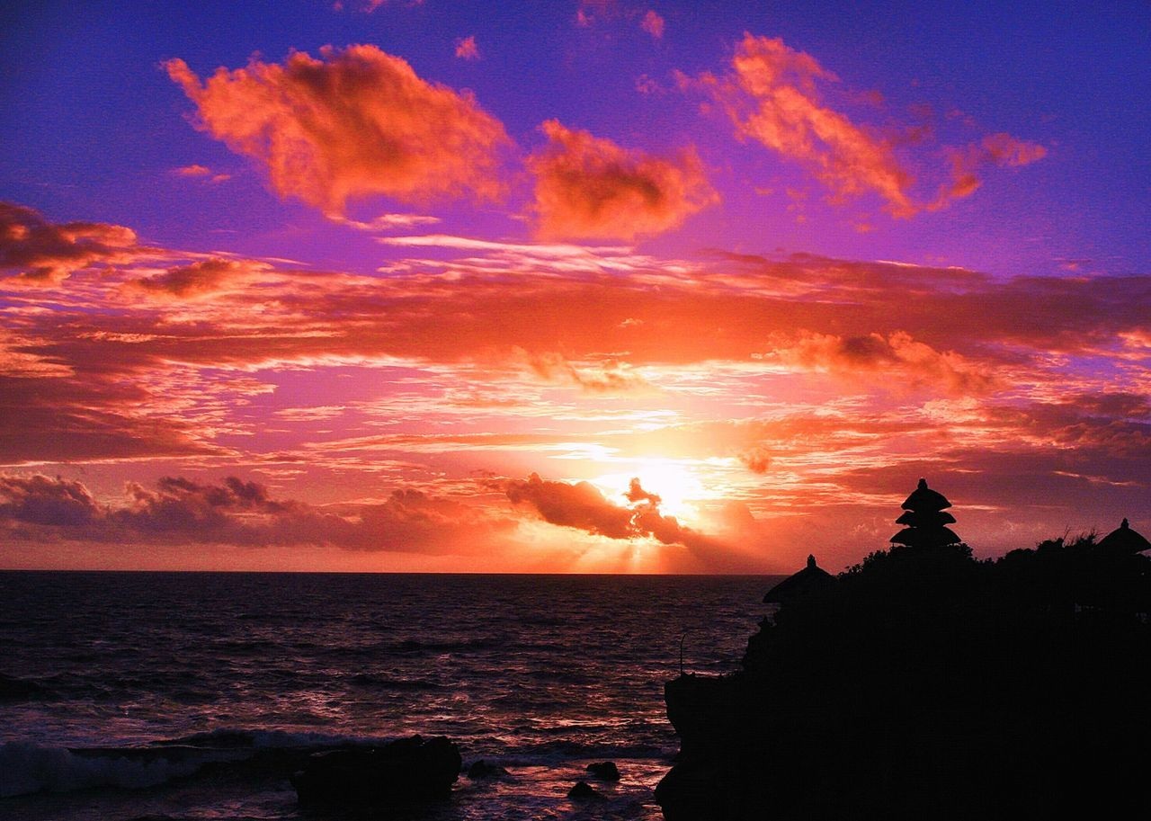 Sunset Bali, Indonesia Landscape Nightphotography Tanah Lot