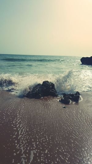 Beach Sea Sand Wet Nature Wave Water Day Outdoors No People Beauty In Nature