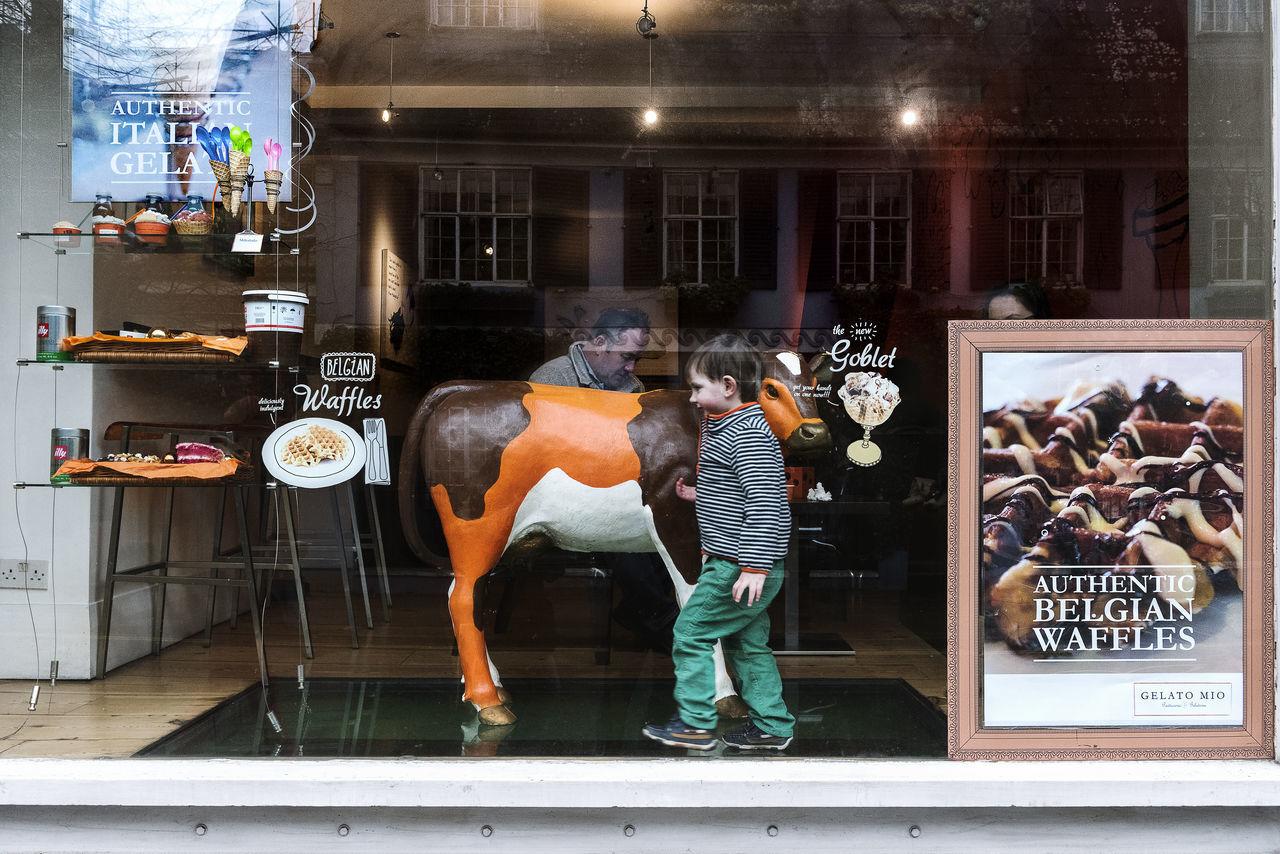 Children Glass Indoors  London Men People Shop Two People Vitrine