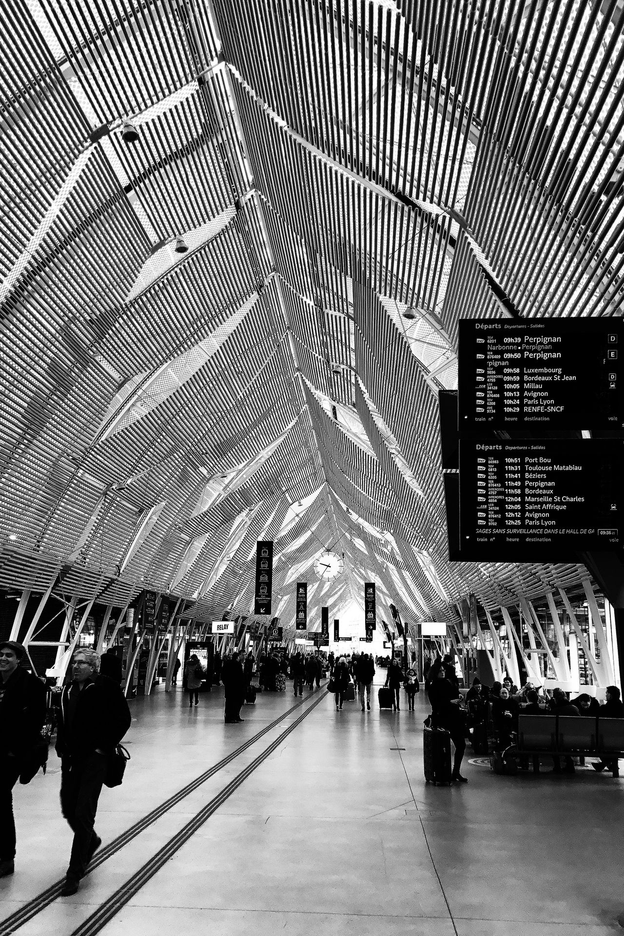 Gare saint roch Transportation Travel Large Group Of People Architecture Built Structure Indoors  City Life Illuminated Public Transportation City Men Commuter Day Crowd People