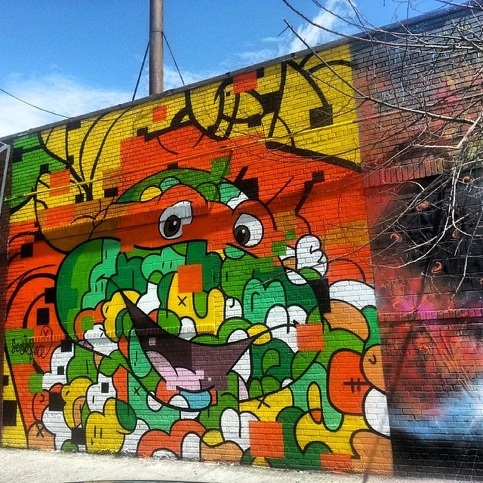 Thats Raphael right? @incarceratedjerkfaces IncarceratedJerkFaces Jerkface Streetart StreetArtNYC Mural Graffiti Art BushwickCollective Bushwick