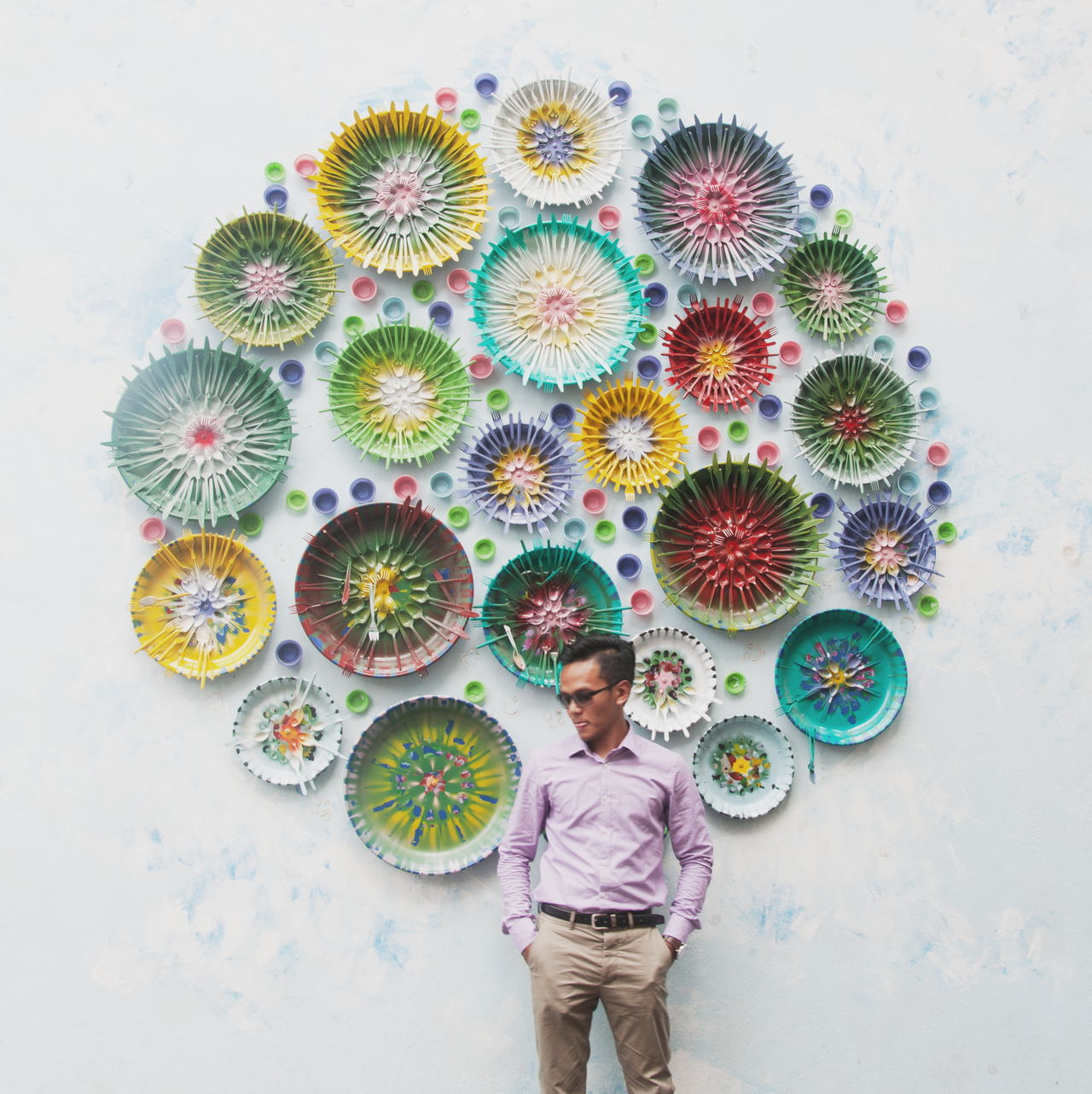 Beautiful stock photos of feuerwerk, real people, one person, multi colored, casual clothing