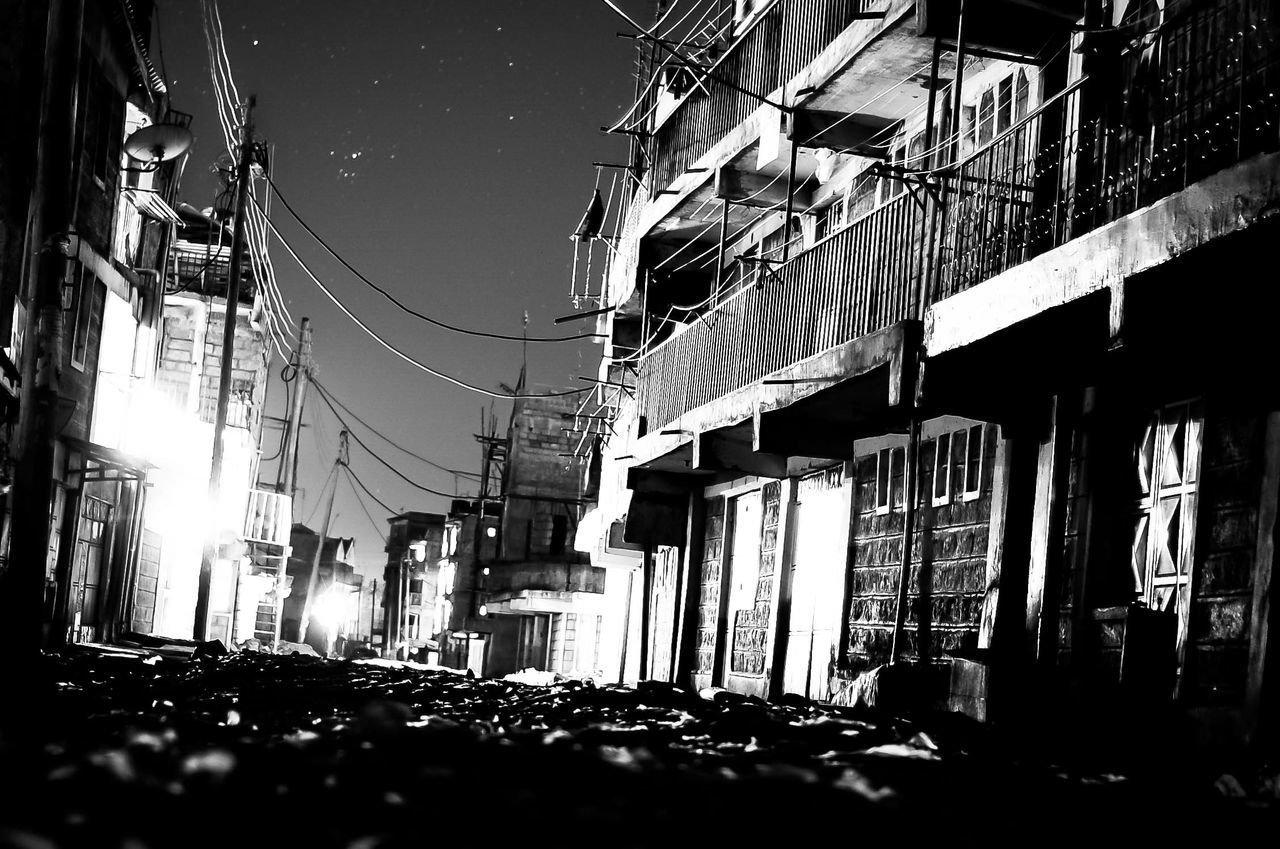 building exterior, architecture, built structure, street, cable, outdoors, city, night, no people