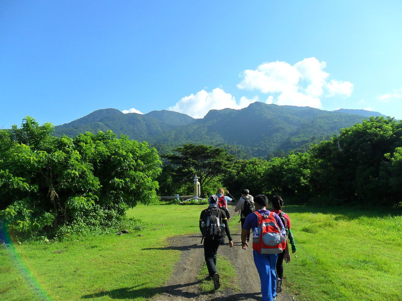 Growth Mountain Leisure Activity Grass Walking Outdoors Beauty In Nature Group Of People Friendship Philippines TravelPhilippines TrekkingDay Trekking Sky Nature Summer Travel Destinations