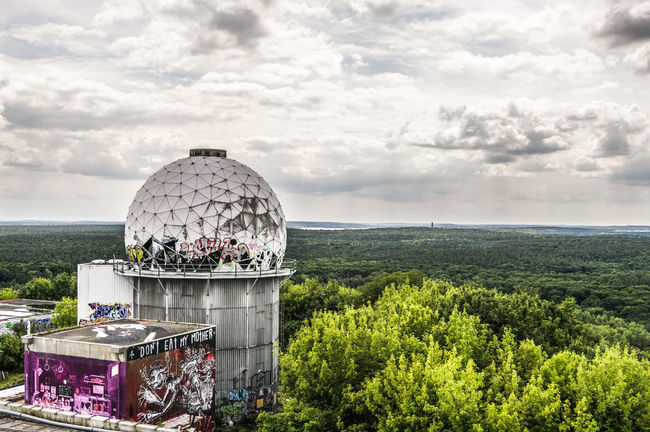 Abhörstation Berlin Cloud Cloudy Exploring Germany High Section Landscape Monitoring Station Outdoors Sky Spy Teufelsberg