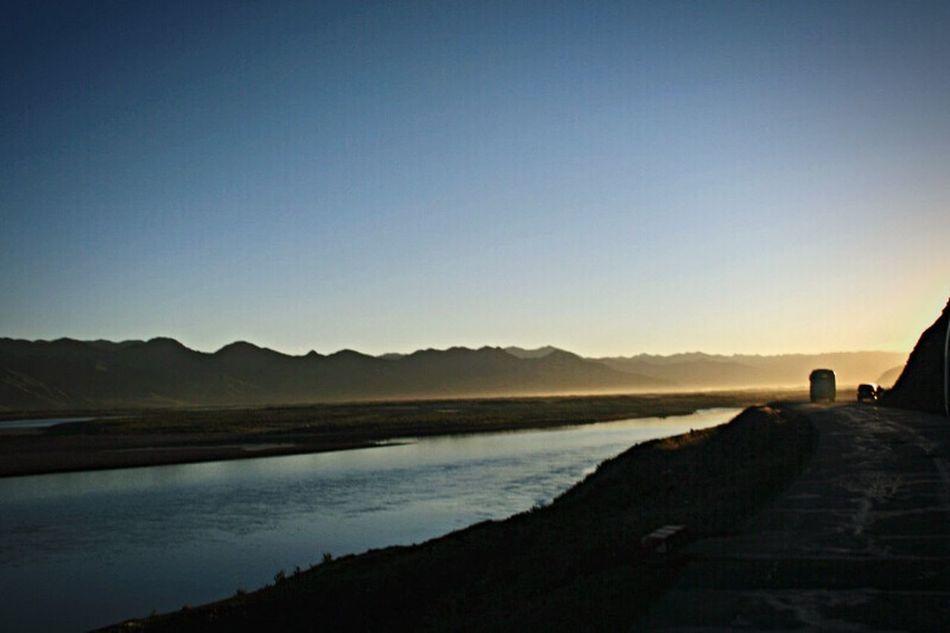 Travel Photography Tibet Yarlung Zangbo River Brahmaputra South Early Morning