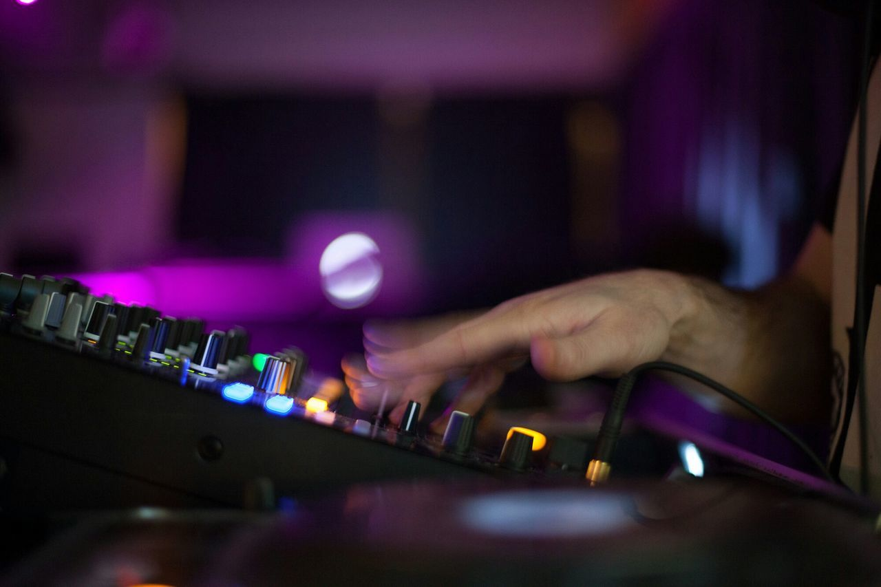 Beautiful stock photos of decks, Adjusting, Arts Culture And Entertainment, Audio Equipment, Blurred Motion