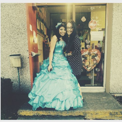 Daisy's Quinceñera Today. She looked beautiful.?? Quinceñera