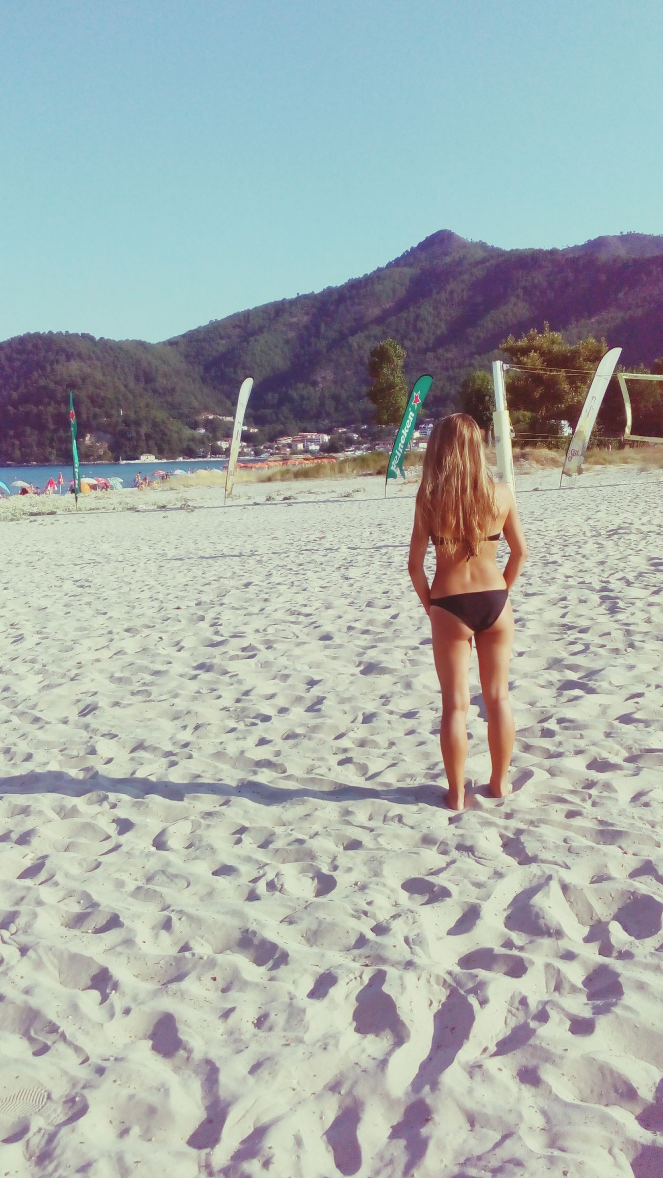 Thassos Beach Golden Beach Mountains In Background In The Back Of The Girl Blonde Hair Dont Care Blonde Blondehair Swimsuit Swimsuitseason