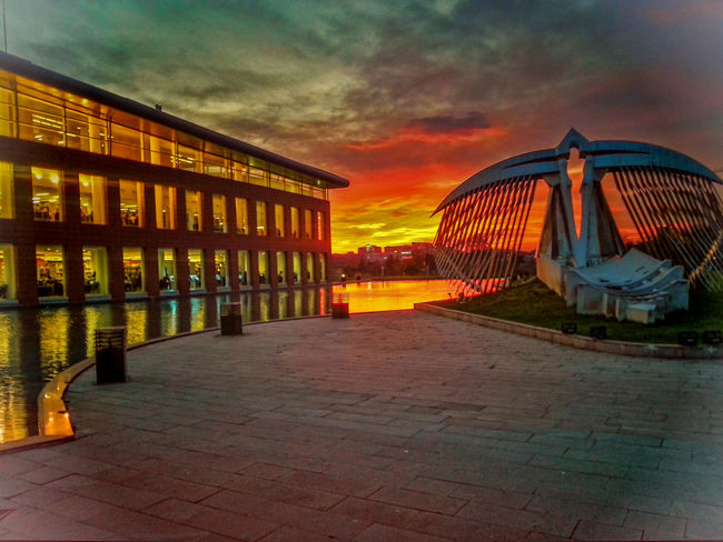 Absence Architecture Built Structure Cloud Cloud - Sky Cloudy Edited Empty Faculty History Istanbul ITU Library No People Orange Color Outdoors Reflection Sky Sunset The Way Forward Travel Destinations University Walkway