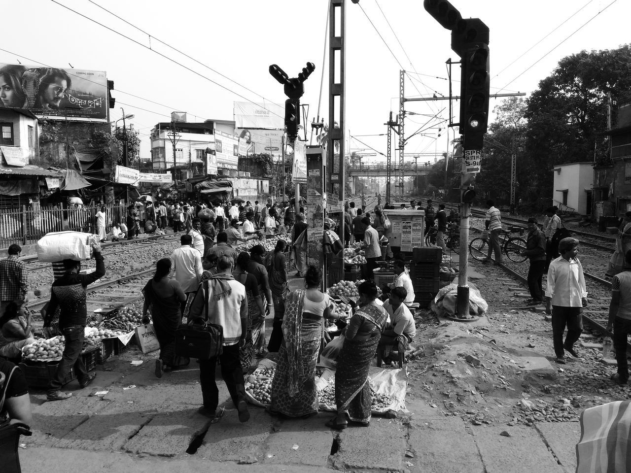 Busy Railway crossing Large Group Of People Women City Outdoors Men Real People People Crowd Busylife Streetphotography Kolkata India