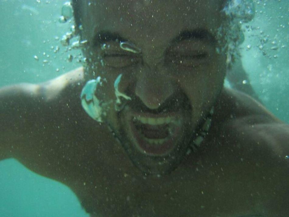 Underwater Screeming Voiceless Sea Muted Green Water Myself Freedom Acting Stupid Summertime