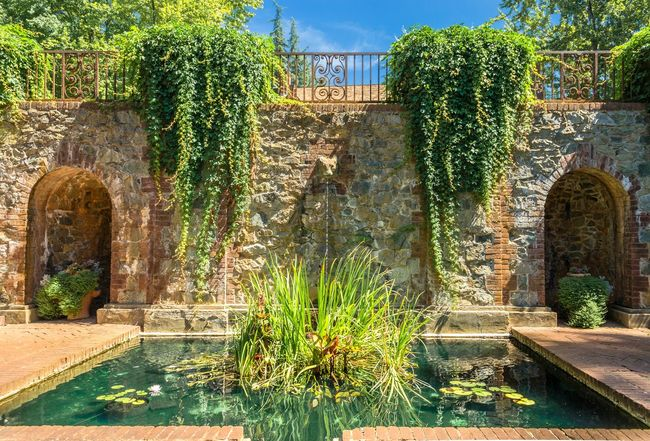 """""""Empire Mine Water Garden"""" - This is one of the many beautiful gardens at Empire Mine. This small water garden fed into a large pool that was behind me. Empire Mine California Garden Pool Water Fountain Water Garden  Architecture Symmetry"""