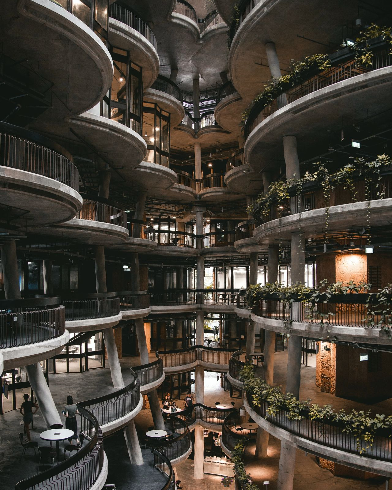 Hive Architecture Indoors  Illuminated Day Luxury Light Collection Light Architecture_collection Architecture Perspective Built Structure Building Interior Buildings Architecture Details Design Singapore The Hive Nanyang Technological University Perspective Photography