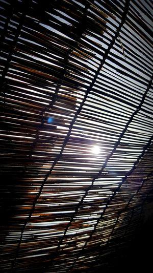 Bamboo Curtain Bamboo Roofing Sun Peeking Through Outdoor Showers