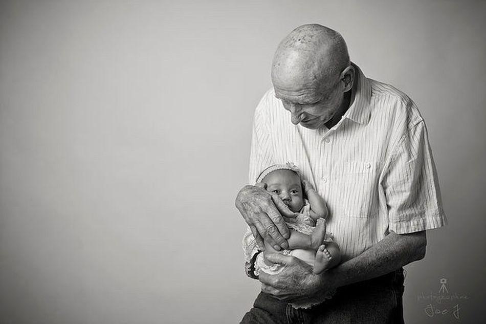 First Eyeem Photo Baby Granfather Family Portrait Losanageles Photographer Bw Photography