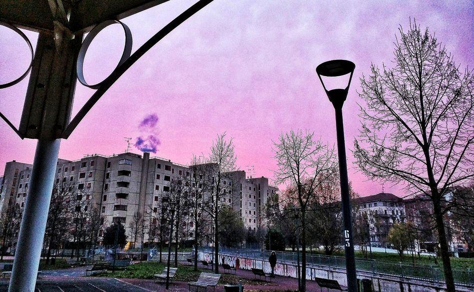 Suburban Sky City Autumn Morning