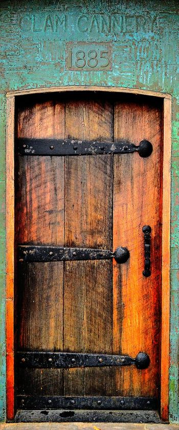 Door Doorway Antique History Historical Building Historic Wood - Material Wood Wooden 1885 Port Townsend Washington State Cannery Fine Art Photograhy