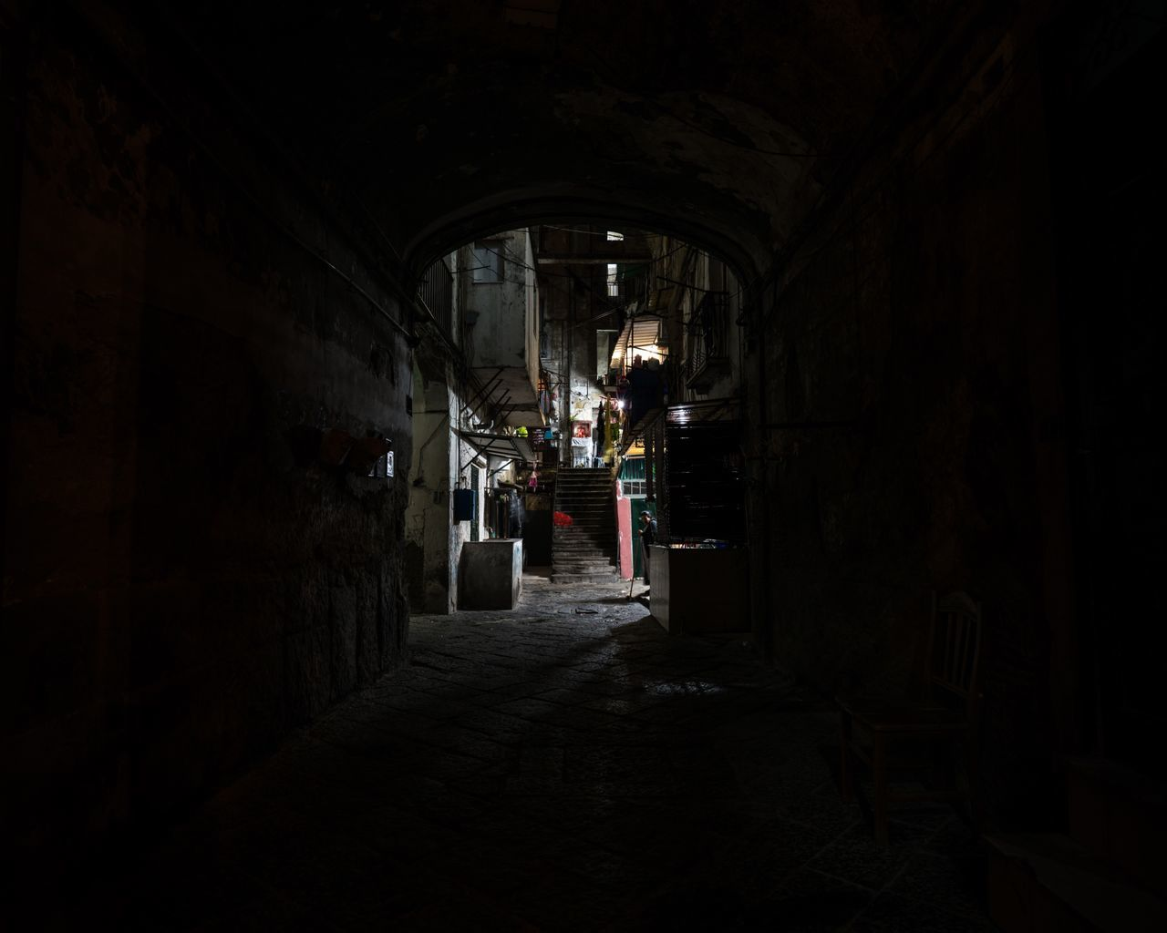 Out of the Dark. Architecture Night Lights Night Nightphotography Tunnel Vision Tunnel Naples Napoli You Want It Darker Bella Italia Italy Italia Italy❤️ City Dark Dark Photography Darkness And Light Alley