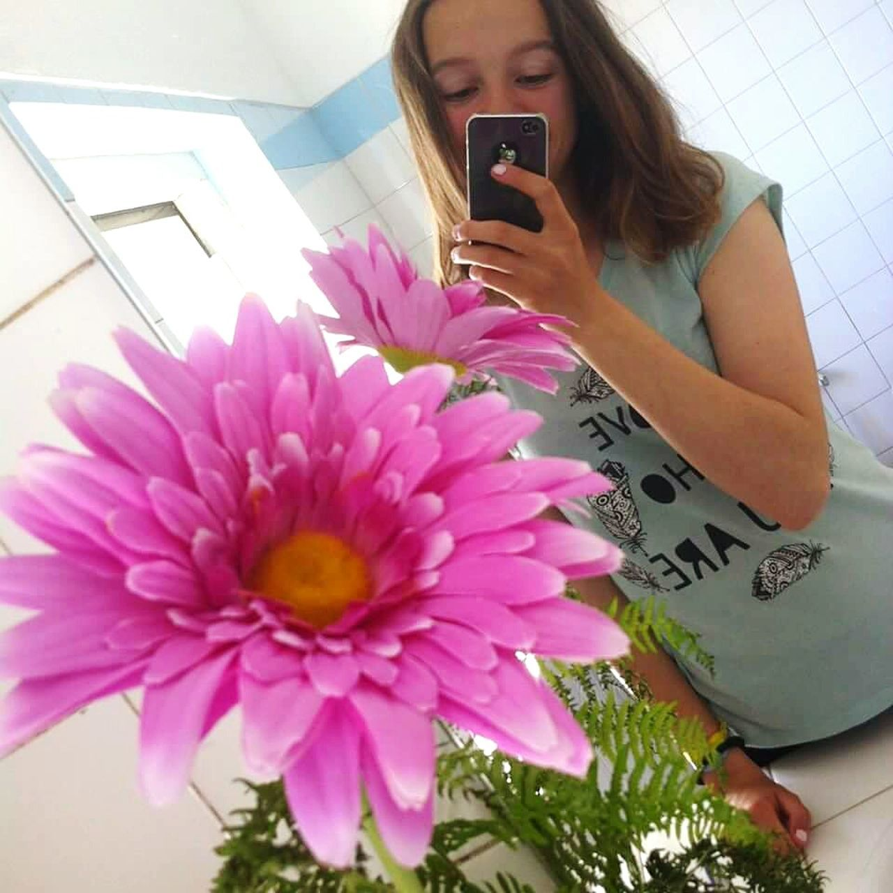 Me Mirror Sunny Flower LoveWhoYouAre