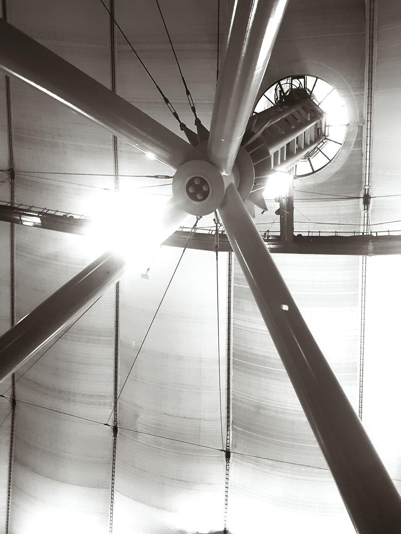 Tetrapodal feature Indoors  Illuminated Low Angle View No People Architecture Day O2 O2 Arena Greenwich SUPPORT Architectural Feature Monochrome Blackandwhite Black & White