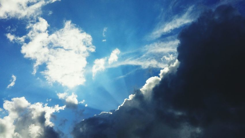 Clouds & Sky Sunshine Rays Silverlining Hopes And Dreams Wonder God's Beauty By Chance Right Time Right Place