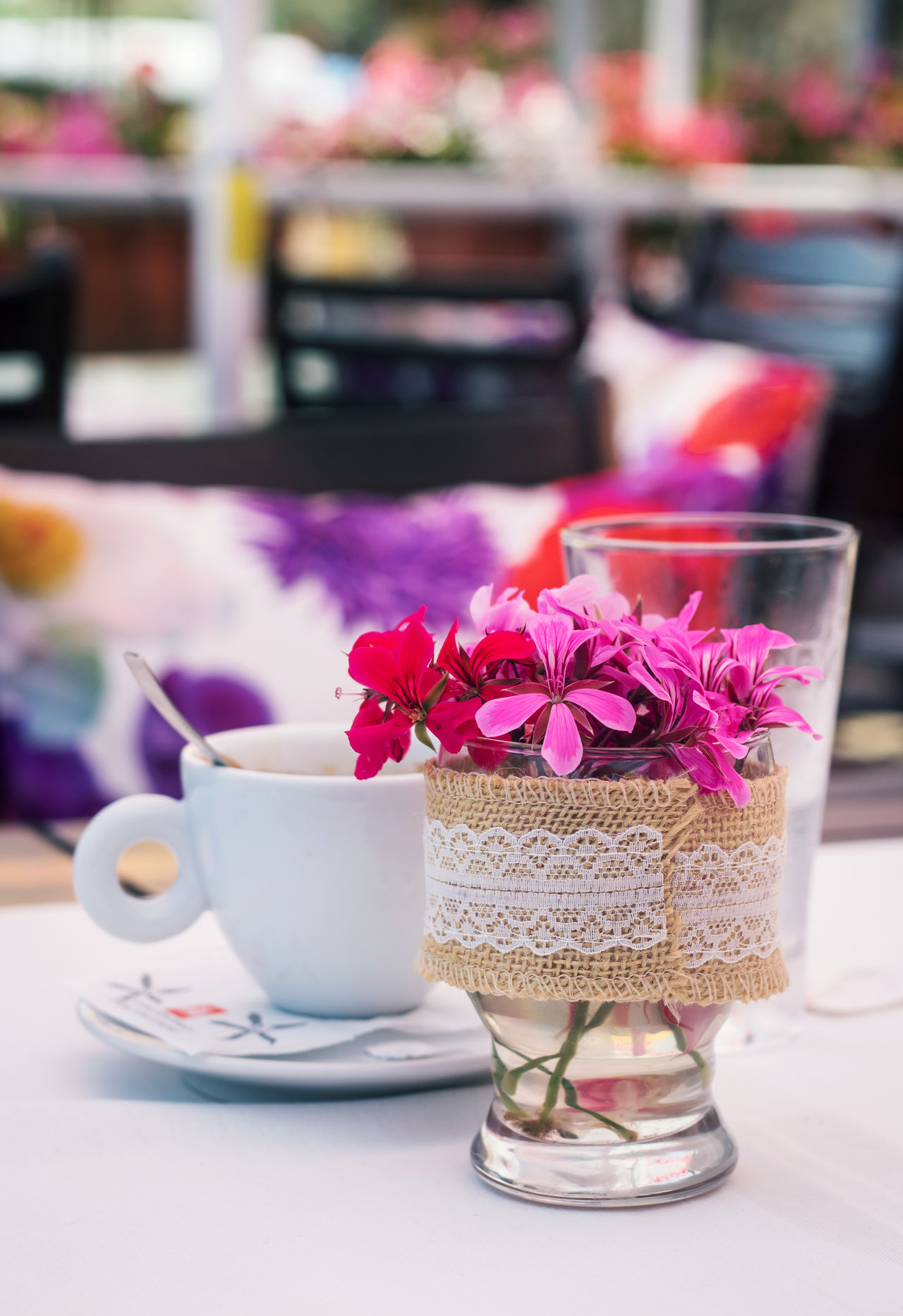 Close-up Coffee Day Drink Flower Focus On Foreground Food And Drink Fragility Freshness Indulgence No People Refreshment Table Temptation