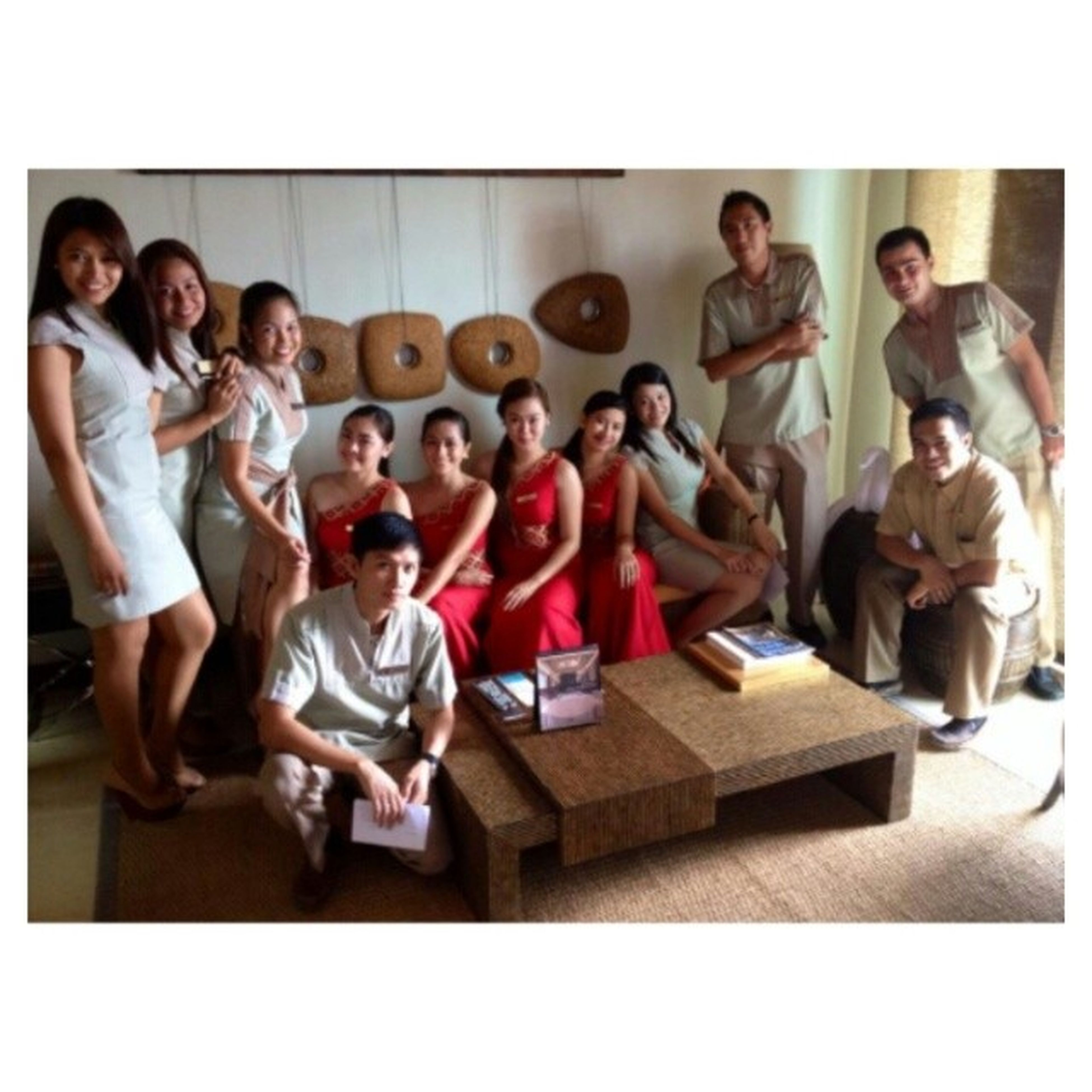 With some of the FO and Guest Relations Staff of Crimson. Lobbygreeters Handwashingritualtraining Kinawatnapicture