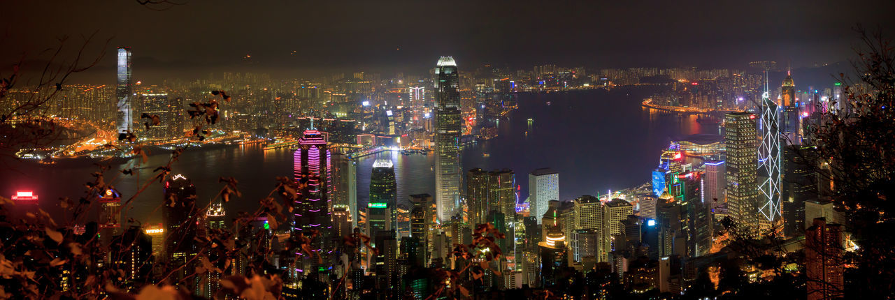 Hong Kong at night from the Peak Architecture Business Business Finance And Industry City Cityscape Downtown District Eye4photography  EyeEm Best Shots Illuminated Modern Neon Night No People Outdoors Panorama Sky Skyscraper The Peak Travel Travel Destinations Urban Skyline