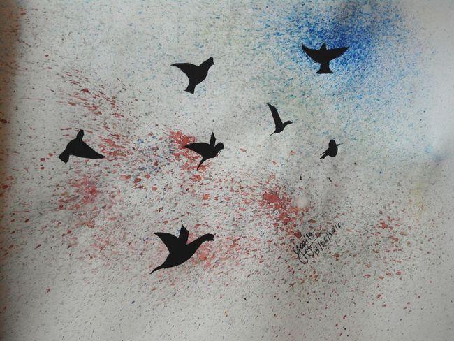 Art, Drawing, Creativity ArtWork Birds Colors Sprayart Passion Made By Me Painting Eyeem Paintings Love Drawing ❤