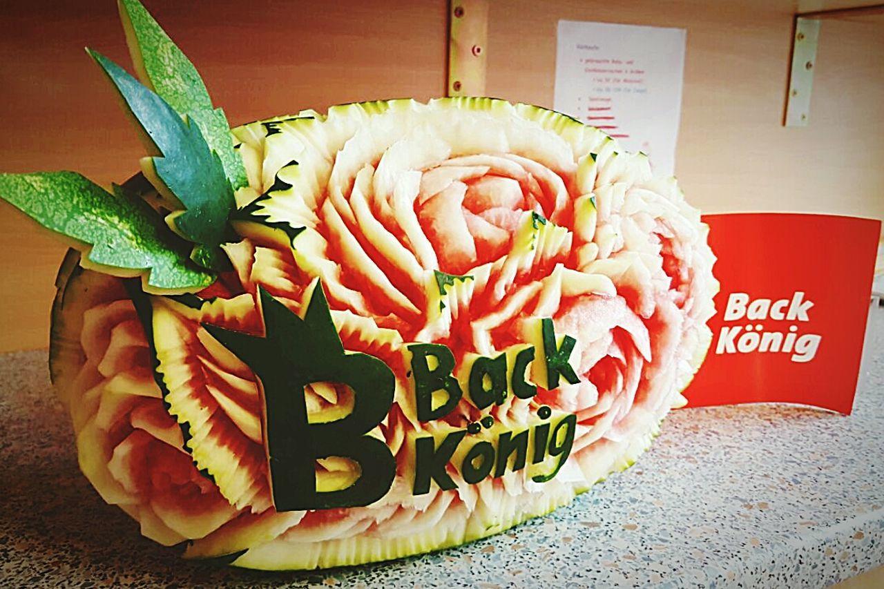 Obst Obstdeko Flowers Fruit Melon Wassermelone Back König