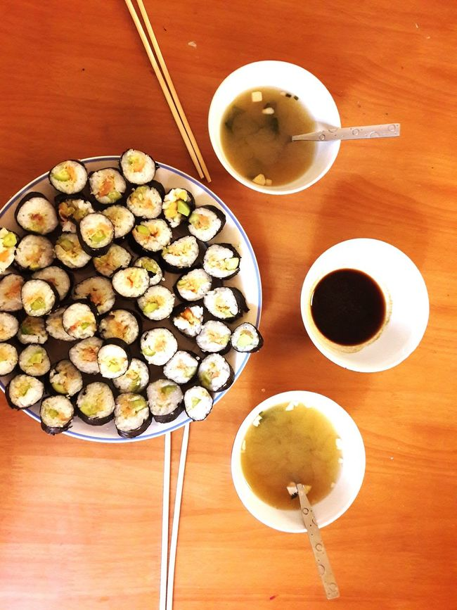 ShareTheMeal Healthy Eating Freshness No People Indoors  Sushi Sushi Time Sushilover Miso Soup Chopsticks Vertical High Angle View Healthy Eating Coconut Freshness No People Drink Indoors  Day