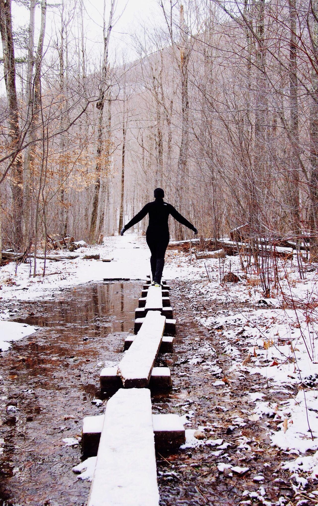 Open Edit Balance Hiking Snow Forest Vermont Winter Winter Wonderland