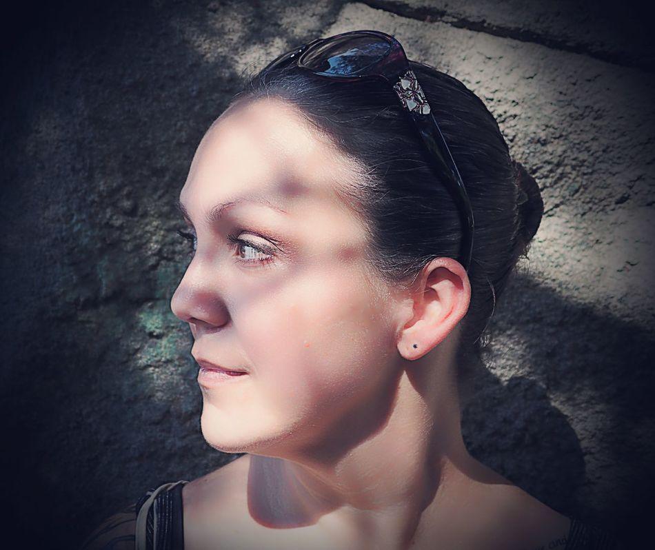 Jenna Portrait Headshot Close-up Contemplation Summer Shadow And Light Shadow-art Olympus Stylus 1 Syracuse Ny