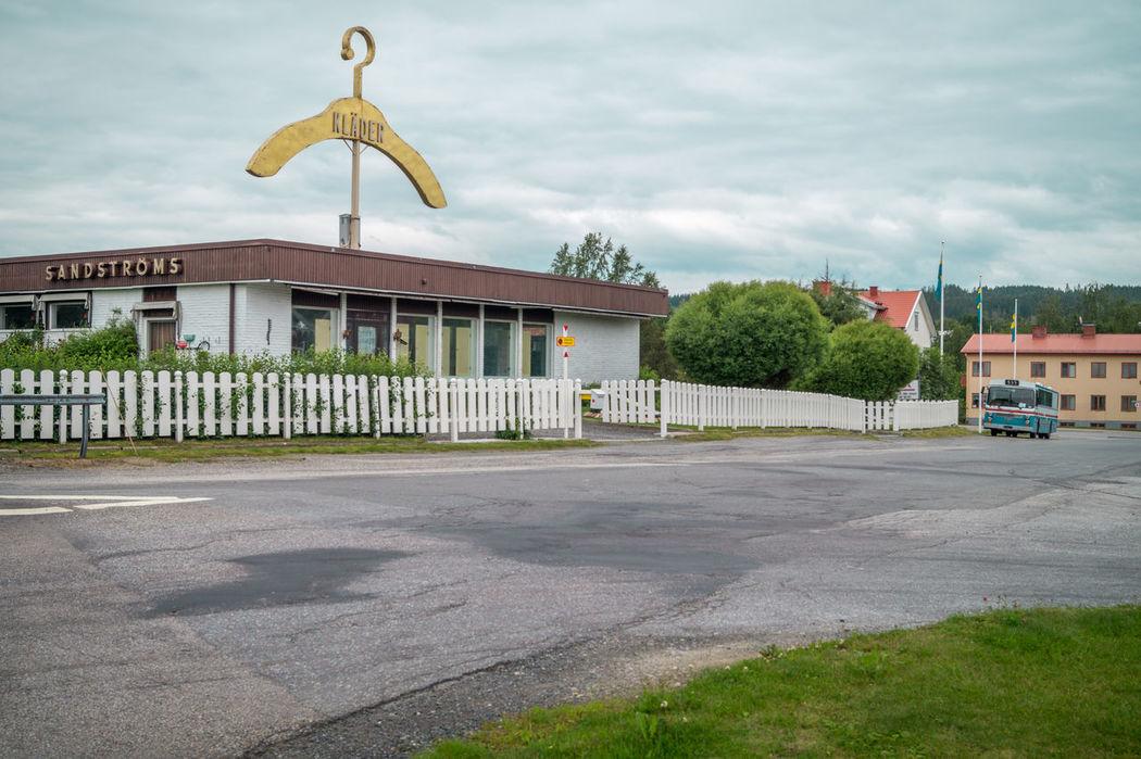 Bus Clothing Store E4 Hanger Nostalgia Old Retro Smalltown Sweden Ullånger Vintage