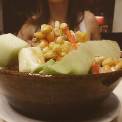 Salad at Pizzahut in Bali Kuta Beach Corns Cucumber Bowl Healthy ICAN XPERIA Food Stories