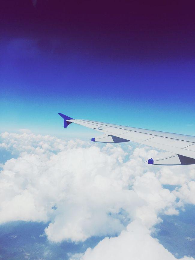 Cloudscape Blue Sky Flying