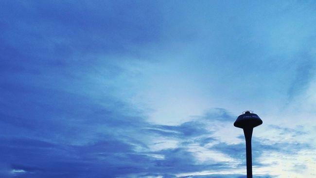 Watertank Minimalism OpenEdit Eyeemlandscape Landscape Sky Blue Sihouette