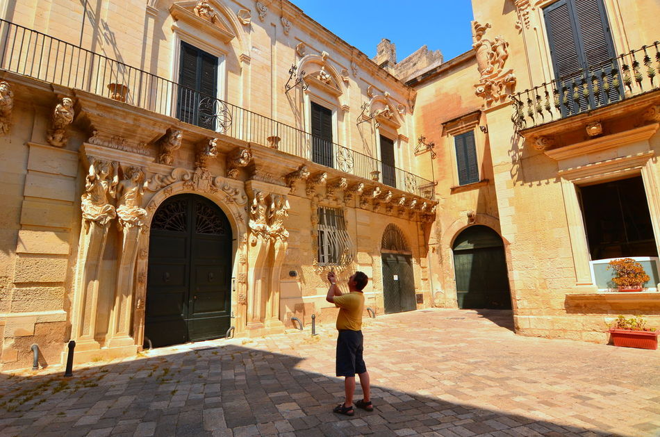 Architecture Baroque Architecture Building Building Exterior City Colorful Culture Day Europe Façade Feel The Journey Historic History Man Man Taking Photo Outdoors Photographing Taking Photo Taking Photos Of People Taking Photos Tourism Tourist Destination Tourist Photography Tourists Travel Destinations Travel Photography
