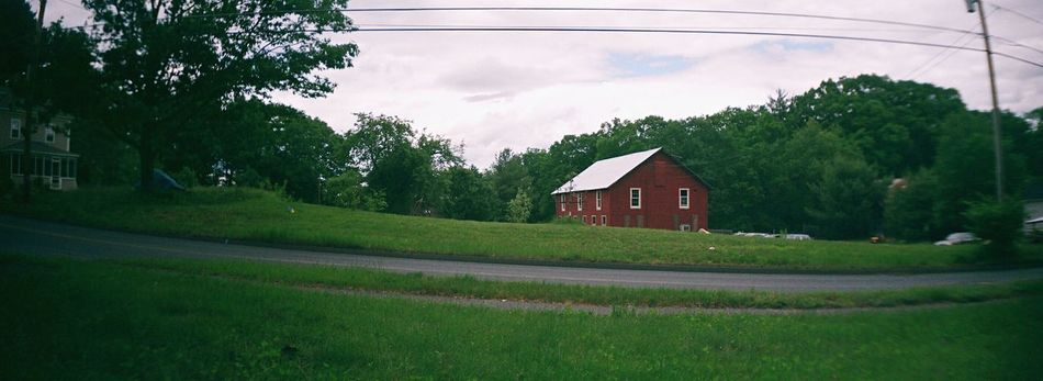 Tree House Building Exterior Sky Architecture Grass Country Life Koduckgirl Film Sprocket Rocket Panorama Farmhouse Barn